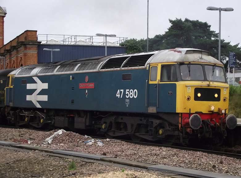 47580 at Bournemouth with 1Z95 16:35 Weymouth - Waterloo on 06/09/11, Photo by Steve Blackwell